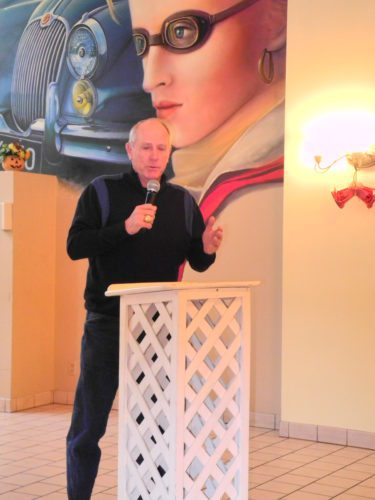 Photo by Warren Scott Rich Donnelly, a Steubenville native and a longtime professional baseball coach, speaks during the Faith in the Future prayer breakfast Friday at Froelich's Classic Corner in Steubenville.