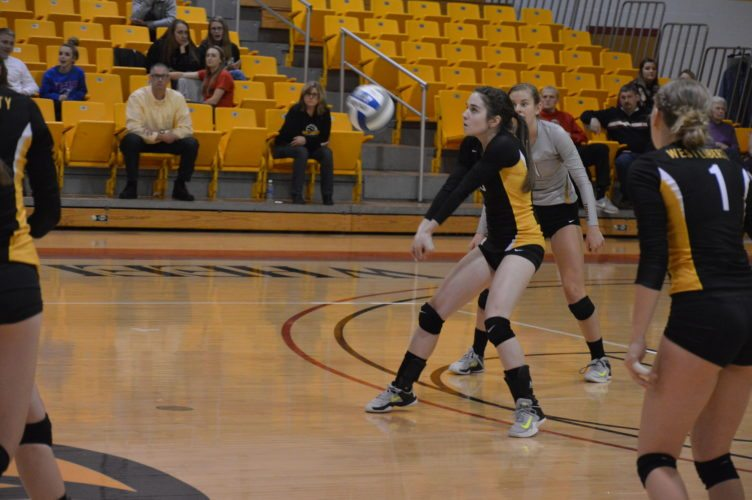 Photo by Cody Tomer West Liberty's Jo Lyn Jurek makes a play during the MEC Tournament.