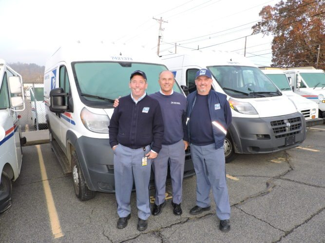 Photo by Heather Ziegler Longtime letter carriers John Fahey, from left, Joe Key and Randy Stephens, will join the ranks of retirees at the end of this year, marking more than 100 years of service among them.