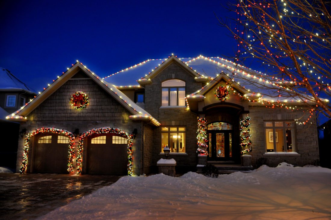 Christmas Decor is a North American holiday lighting company based in Lubbock, Texas. Pictured is a home decked out by the company, which has franchises throughout the U.S. and Canada. Photo Provided