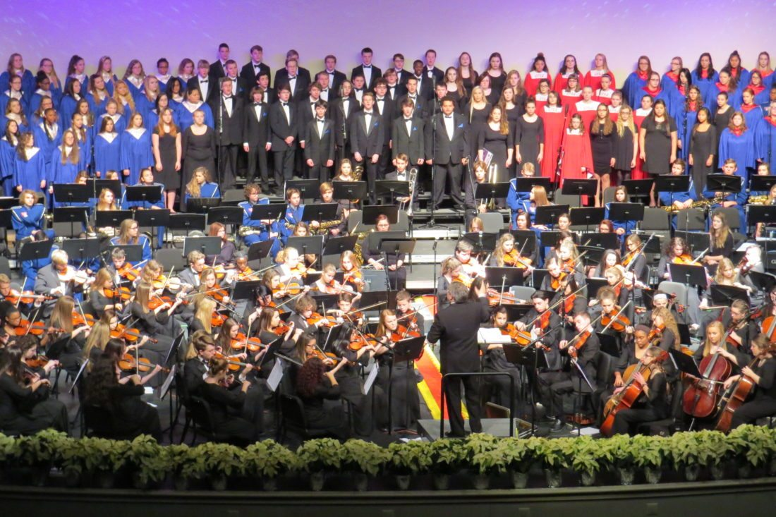 Photos Provided Wheeling Park High School students perform during the 2016 Festival of Sound. This year's Festival of Sound will be presented at the school's J.B. Chambers Performing Arts Center at 7 p.m. Dec. 8-9 and 2 p.m. Dec. 10.