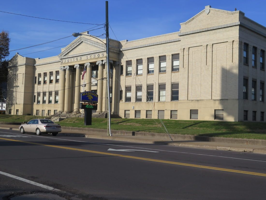 Photo by Joselyn King Constructed more than a century ago, Madison Elementary School on Wheeling Island could be among the Ohio County school facilities slated for improvements as school officials discuss a school bond levy for next year.