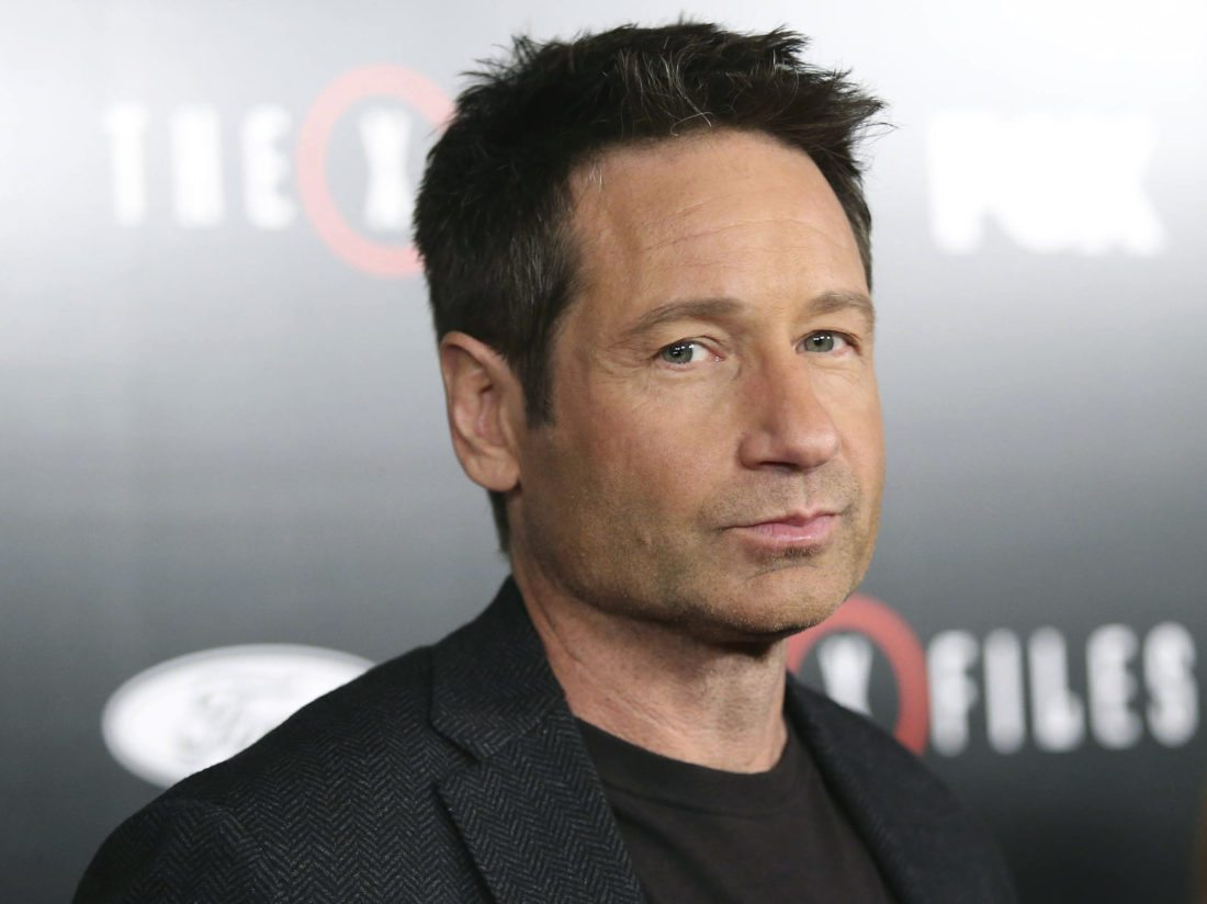 """In this Jan. 12, 2016 file photo, David Duchovny arrives at the season premiere of """"The X-Files"""" at the California Science Center in Los Angeles, Calif. High-profile sex-related accusations against celebrities, politicians and media members have put a spotlight on sex addiction. Skeptics question whether it's a true addiction or a made-up condition used by misbehaving VIPs to deflect blame. Duchovny voluntarily sought rehab for sex addiction in 2008 while starring on Showtime's """"Californication.""""  AP Photo"""