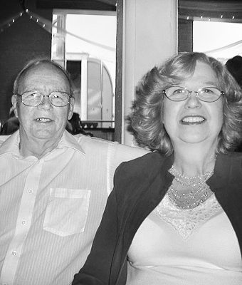 Margie and Werner Bechtel, then and now