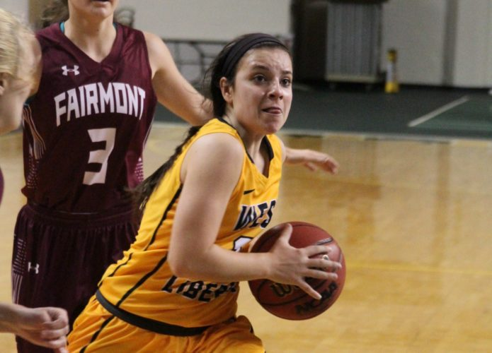 Photos Provided by West Liberty Athletics West Liberty's McKenna Shives drives to the basket during Saturday's game against Fairmont State.
