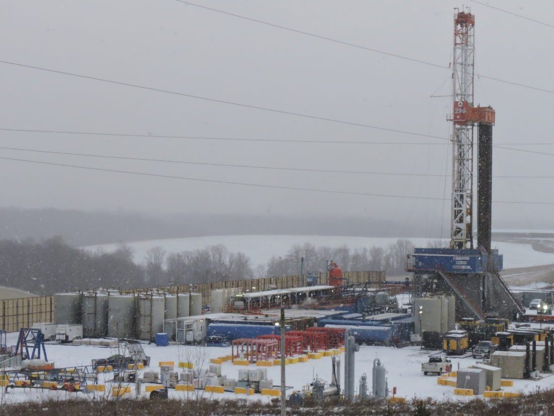 Belmont County drilling sites that Rice Energy once operated are now under the ownership of EQT Corp., a Pittsburgh-based firm that plans to drill 38 new wells in Ohio  during 2018 with an average horizontal leg of more than 2 miles.   Photo by Casey Junkins