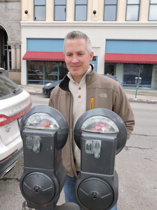 Photo by Casey Junkins Wheeling Mayor Glenn Elliott and members of city council voted to increase overtime parking meter fines to $10 this year.