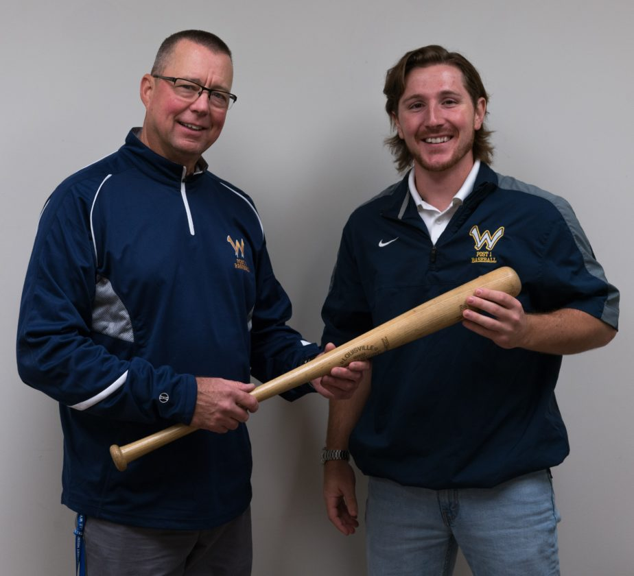 Photo Provided Mark Delbrugge, left, recently stepped down as manager of Wheeling Post 1, handing the job over to former Post 1 standout Jon Michael Brunner.