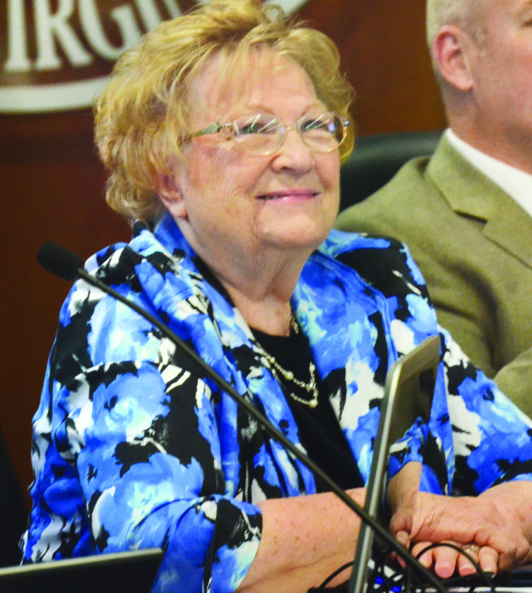 File Photo Former Wheeling City Councilwoman Gloria Delbrugge died at age 75 on Monday. She served the city's 1st Ward, including her home community of Warwood, from 2004-2016.