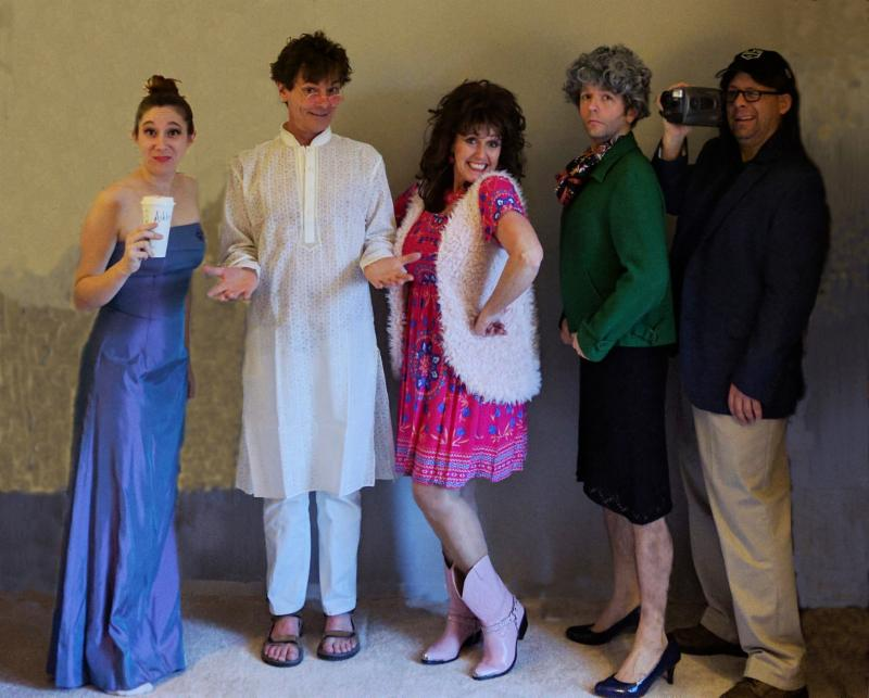 """Cast members of """"My Big Fat RealityWedding"""" include, from left: Meghan Ross, Butch Maxwell, Vera Barton-Maxwell, Dustin Heavilin (pictured is former cast member Ryan Sears) and Evan Oslund (pictured is former cast member Michael Moran)."""