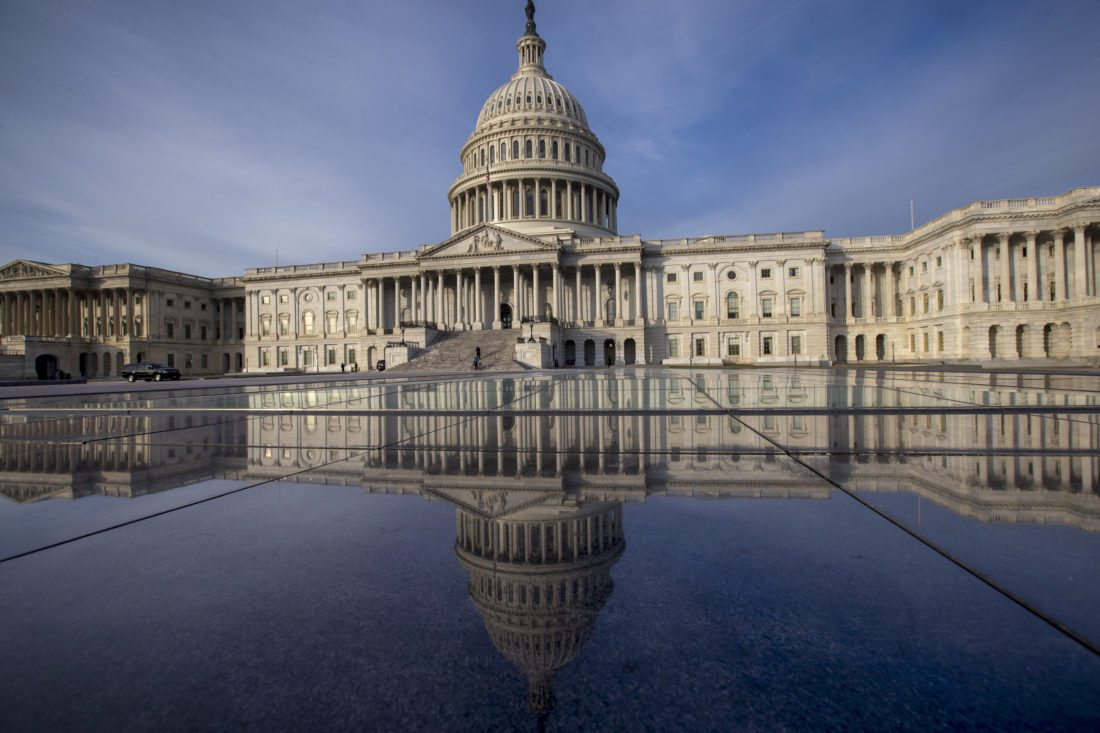 In this Jan. 3, 2018 photo, the Capitol is seen in Washington.  Newly published research shows that the same Russian government-aligned hackers who penetrated the Democratic Party have spent the past six months laying the groundwork for an espionage campaign against an unknown number of U.S. Senate staffers, including Republicans.  (AP Photo/J. Scott Applewhite)