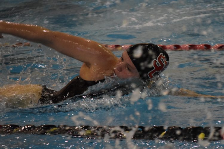 Photo by Seth Staskey St. Clairsville's Maggie Marody competes during action Monday at Wheeling Jesuit University.
