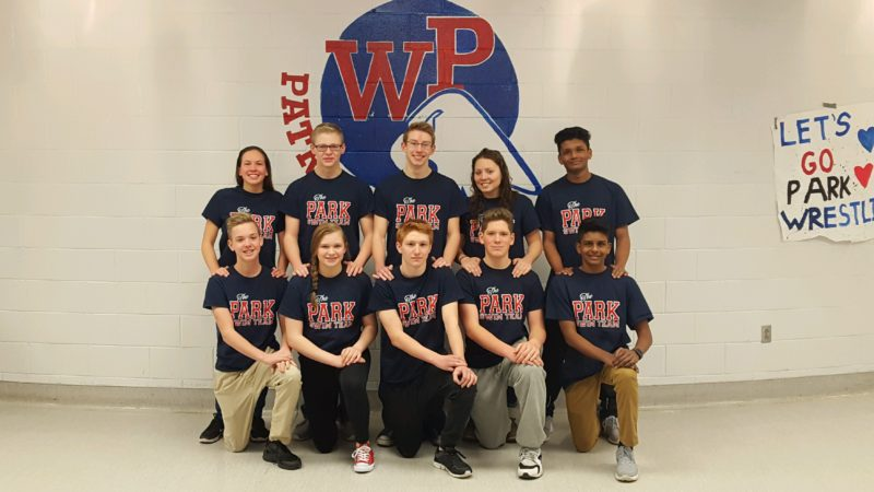 Photo by Cody Tomer The OVAC champion Wheeling Park swimming team has five sets of siblings. Shown, front row, from left, is Isaac McCabe, Allie Franko, Nathaniel Lucas, Sam White and Devanand Kuttan. Back row is Melina McCabe, Cole Franko, Caleb Lucas, Victoria White and Manaved Kuttan.