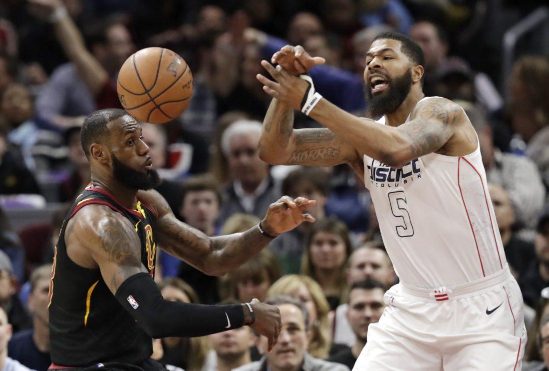 National Basketball Association roundup: Hot Wizards cool off Cavs