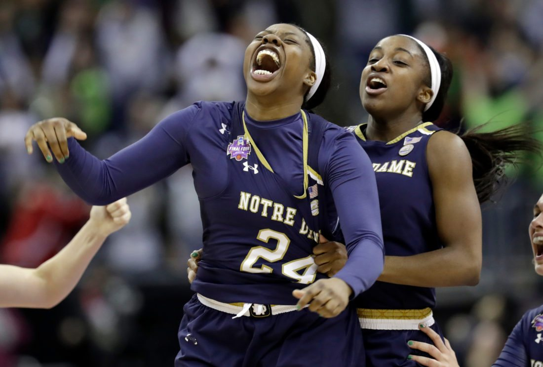Notre Dame wins NCAA women's championship with last-second shot