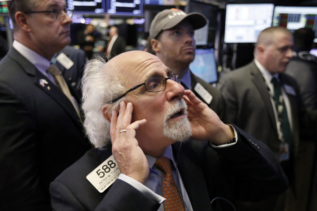 Dow drops 545 points as stock market slide continues