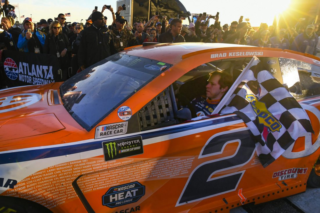 Keselowski shakes off flu for NASCAR victory at Atlanta