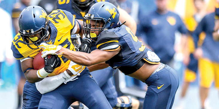 The Mountaineers' defensive squad outplayed the offense during this year's Gold-Blue Game in Morgantown.