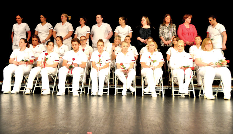 Students set to earn a nursing degree take part Friday evening in the annual Nurses' Pinning Ceremony in the Harper-McNeeley Auditorium at Davis & Elkins College.