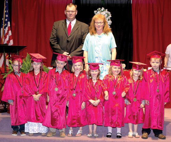 The Inter-Mountain photo by Kevin Hostetler Elkins Christian Academy honored its kindergarten graduates at a ceremony last week.