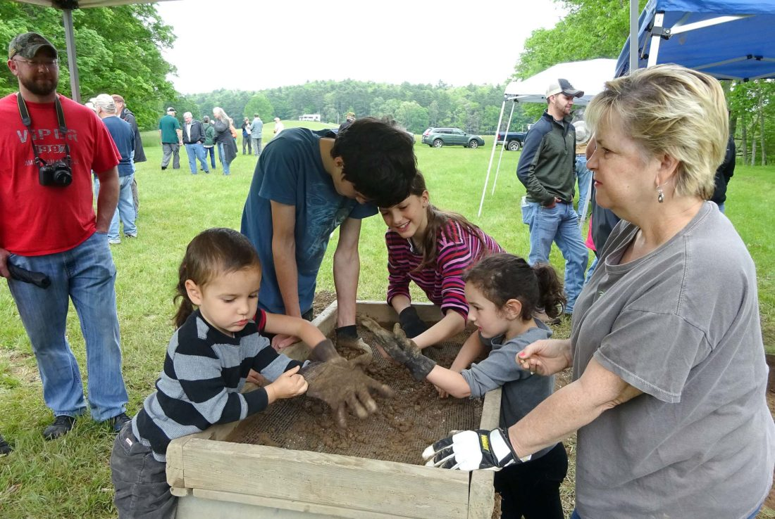 Submitted photos Fort Warwick, which was constructed in 1774 near Green Bank, served as a militia training site during the Revolutionary War. Excavations at the site have attracted Pocahontas County students and community members of all ages.