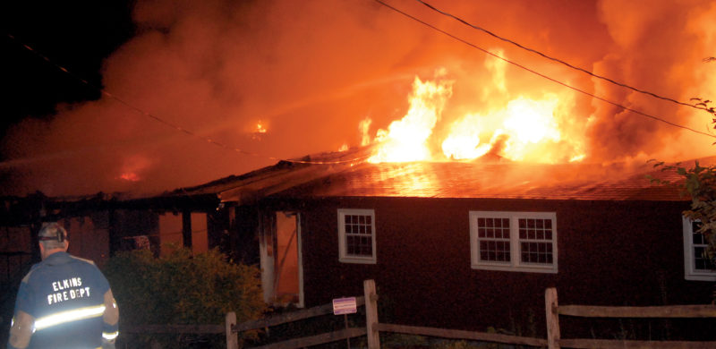 The Inter-Mountain photo by Anthony Gaynor Several local fire departments respond to a house fire near Nellas of Crystal Springs this morning. The blaze erupted at approximately 2 a.m. No further details were available at press time.
