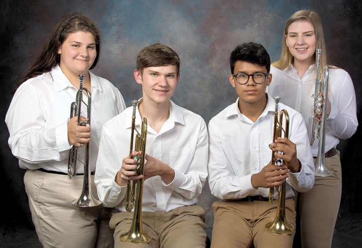 Submitted photo The 2017 Mountain State Forest Festival Royal Trumpeteers are, from left, Juanita Kathleen Teter, Kyle Golden Murphy, Abiel Gallagher-Reyes and Brooke Ashleigh Pritt.