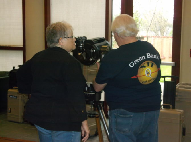 Submitted photo Participants use a telescope during the 2016 Star Quest.