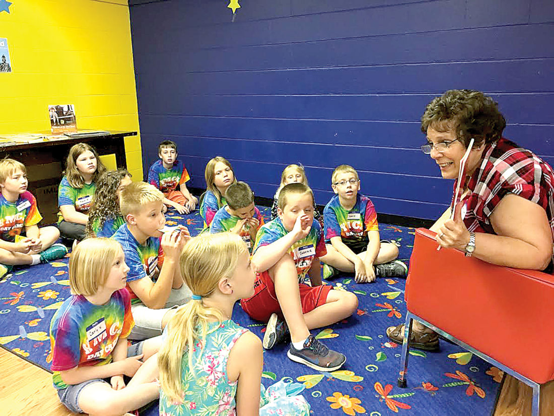 In collaboration with the Elkins-Randolph County YMCA, 12 day-camp children in fourth through sixth grades are experiencing  five quality Wednesday morning reading, research and art sessions hosted by the library.