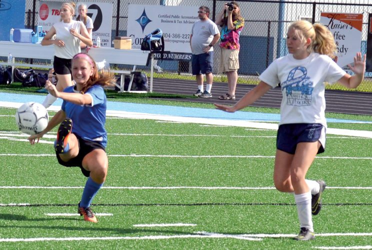 The Inter-Mountain file photo by Tony Baisi Senior Lauren Bennett will be a returning player for the Lady Buccaneers' soccer and basketball teams.