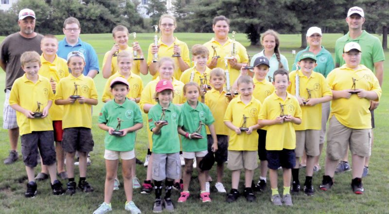 The Inter-Mountain photos by Lydia Rhodes Each child participating in the annual John Ballantyne Memorial Junior Golf Program tournament Monday evening at the Elks Golf Course receives a trophy.