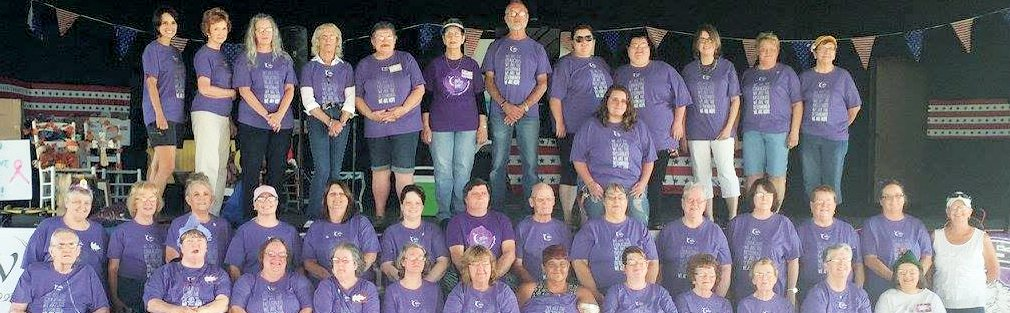 Barbour County Relay For Life attendees gather for a group photo during the event Aug. 2.