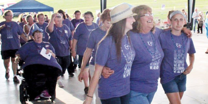 Submitted photos Attendance was down for the Barbour County Relay For Life on a rainy day Aug. 2, but the celebration continued.