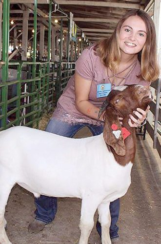 Submitted photo Emily Yates, 15, from East Hardy High School, serves as an honorary commissioner of agriculture during the West Virginia State Fair. Yates and five other students were selected as part of the contest.