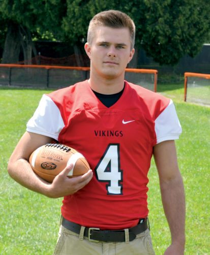The Inter-Mountain photo by Tony Baisi Jacob Halterman will play wide receiver for the Vikings.