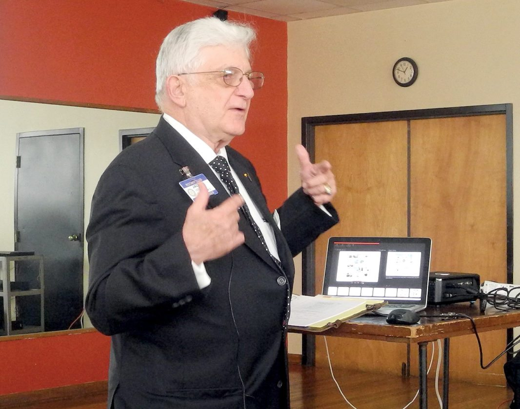 The Inter-Mountain photo by Beth Henry-Vance Jack Pappas speaks Monday about a regional initiative known as SMART, which stands for Strengthening the Mid-Atlantic Region for Tomorrow. He gave a presentation about the program to the Rotary Club of Elkins at the Elkins-Randolph County YMCA.