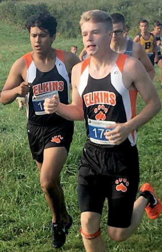 Submitted photos The Elkins boys cross country team finished fifth in a track meet in Bridgeport.