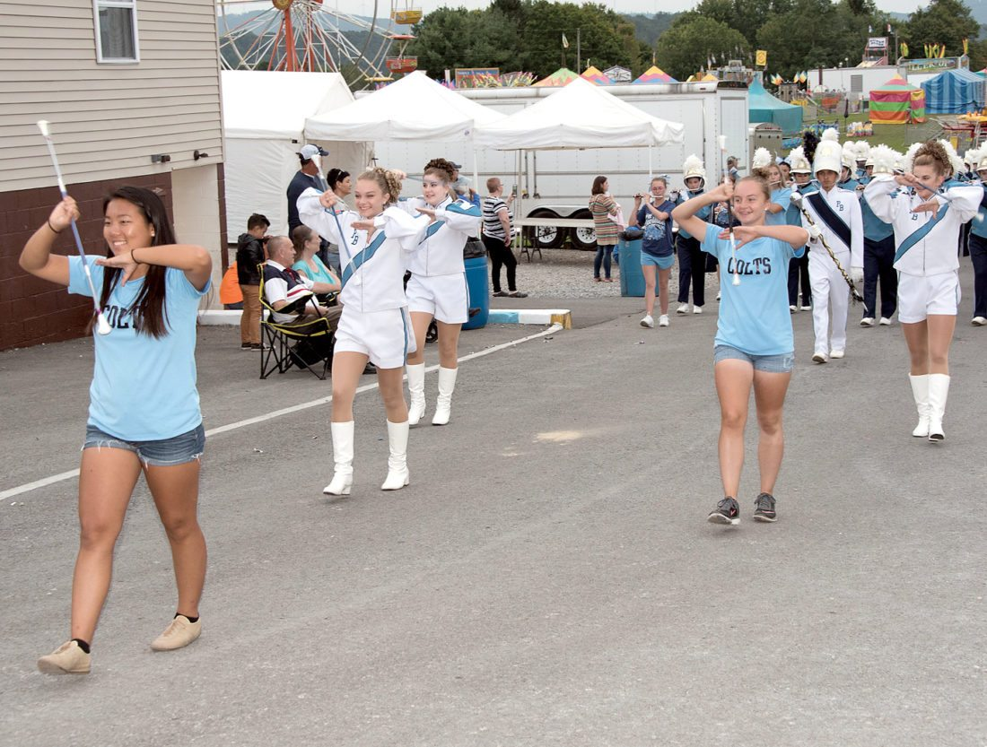 Photos courtesy of Bruce Short  The Philip Barbour marching band keeps in step as they make their way around the parade route at the Barbour County Fair.
