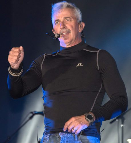 Photo courtesy of Bruce Short Country music star Aaron Tippin interacts with the crowd at the Barbour County Fair Friday night.