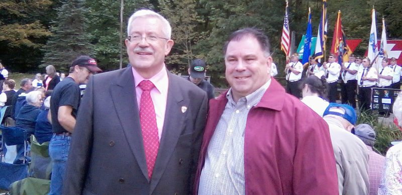 Submitted photo Martin Dahinden, at left, the Swiss ambassador to the United States, poses for a photo with local resident Rhett Dusenbury during the Helvetia Fair Sept. 9. See Saturday's edition of The Inter-Mountain for additional photos from the fair.