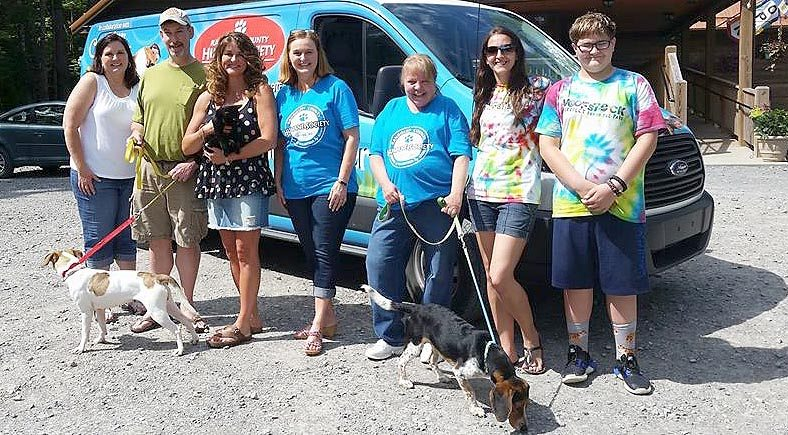 Submitted photo Members and residents take part in the Randolph County Humane Society's first Furry Friends FUNdraiser, hosted by Smoke on the Water last June.