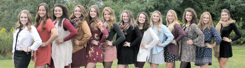Submitted photo 2017 EHS Homecoming princesses, from left, are Ellen Reed, Mackenzie Guy, Sydney Oldaker, Hali Newlon, Madison Dillon, Kaci Zopp, Morgan Rizzio, Ally Simon, Laria Rush, Caitlin Weese, Madison Bowers, Addison Berdine and Sofia Triplett.