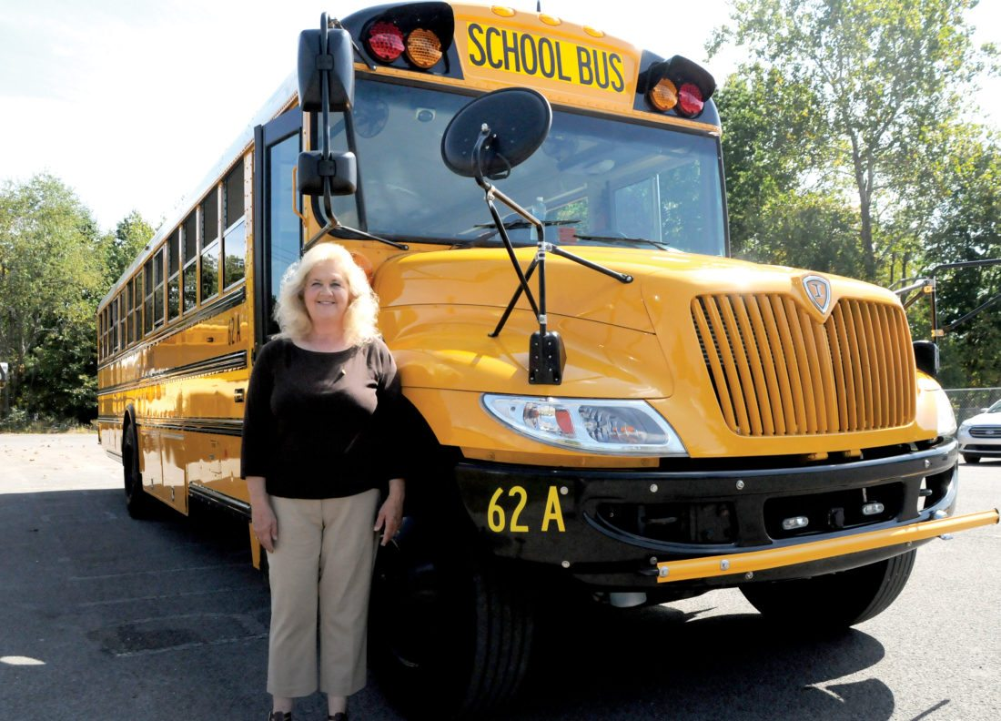 The Inter-Mountain photo by Beth Henry-Vance Clara LaVerne 'Vernie' McNeal, of Valley Bend, has been driving a school bus full-time for Randolph County Schools for 30 years. McNeal's route takes her 54 miles each day around East Dailey to George Ward Elementary School and Tygarts Valley Middle/High School on bus No. 62-A.
