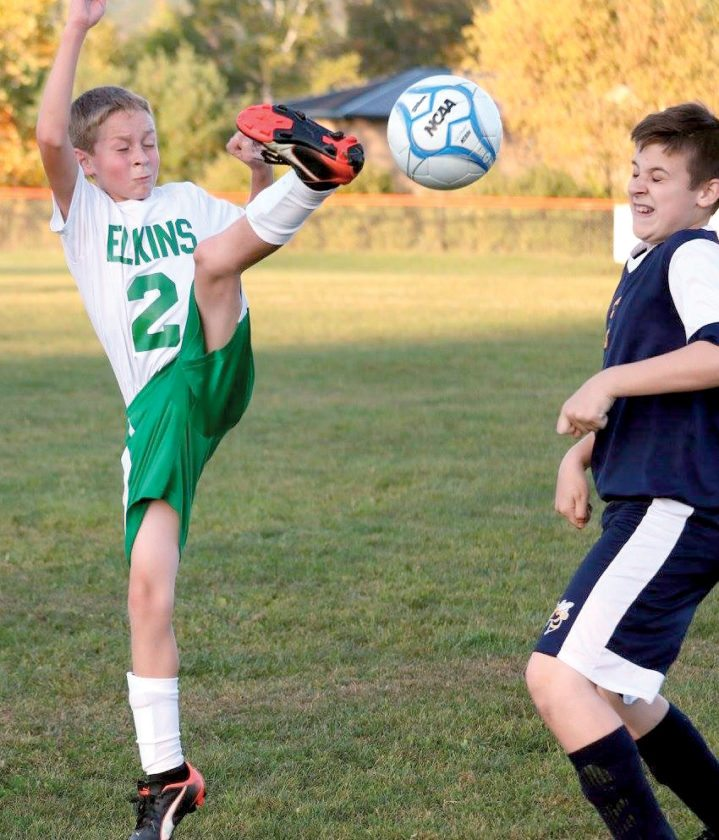 Photo by Kelly Crawford The Elkins Middle School soccer team finished its regular season undefeated by topping East Fairmont 12-0 at home Monday evening.