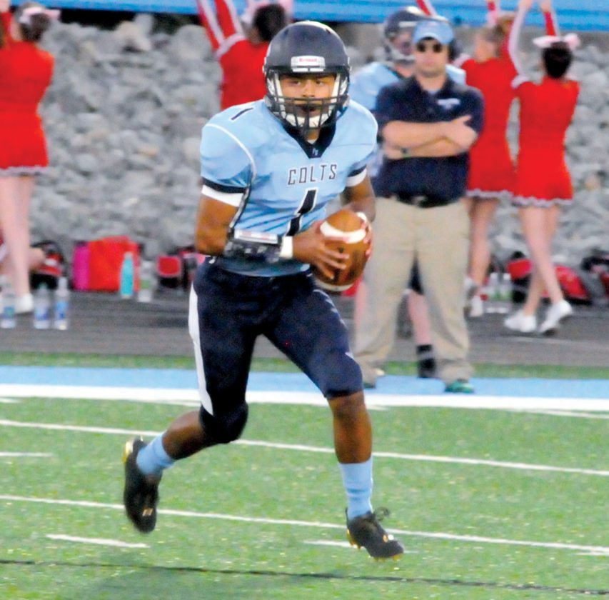 The Inter-Mountain file photos by Tony Baisi Philip Barbour junior quarterback Damien Gonzales, shown here in a game earlier this season, helped lead the Colts to an impressive win over East Fairmont Friday.