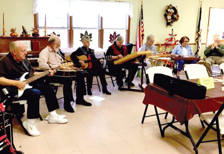 Submitted photo The music group 'Barely Able' performs at the Parsons Senior Center during the monthly outpost meeting on Oct. 3. The group is made up of senior citizens from the counties of Tucker and Randolph.