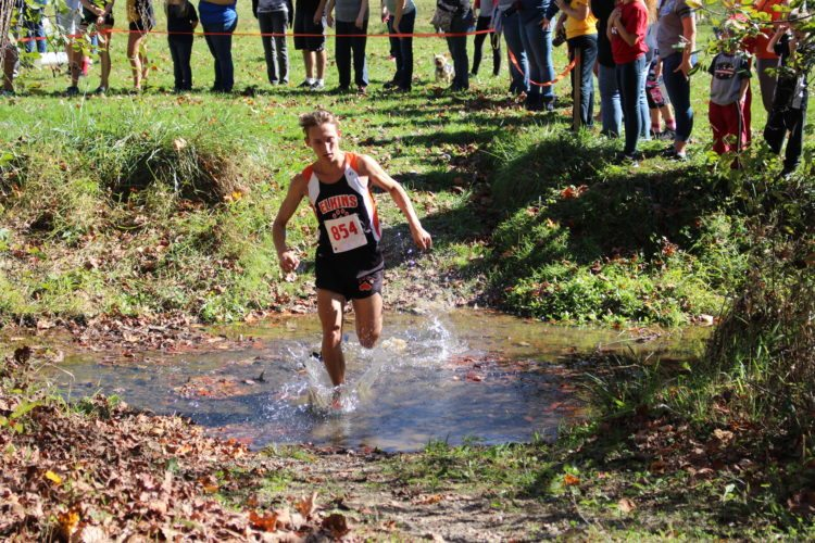 The Inter-Mountain photo by Brooke Binns Mason Clark, an EHS senior, took fifth place in the Region II AA/A Championships on the Tigers' home course at Davis & Elkins College. Clark's success on Thursday assisted in leading the boys team to the state tournament for the fourth time to wrap up his high school cross country career.