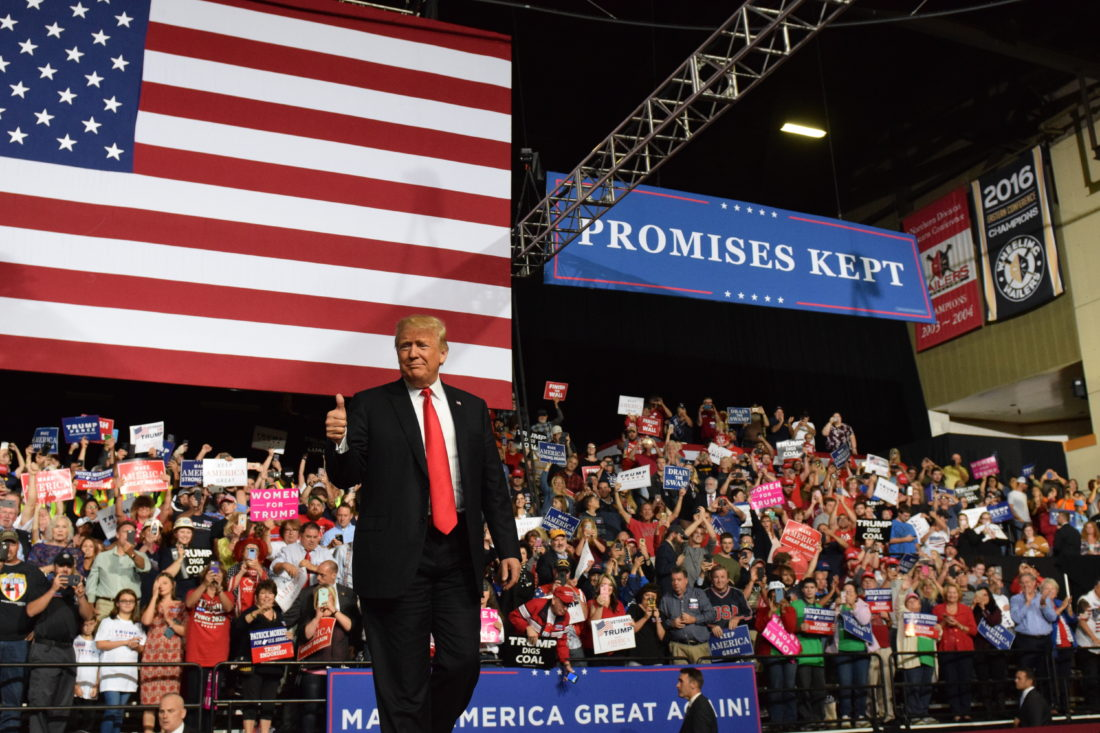 Trump cites Kavanaugh to rally voters