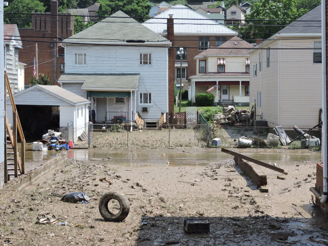 follansbee continues cleanup after weekend u0027s flash flooding news
