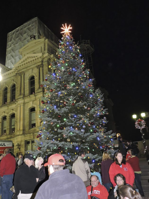 outside the belmont county courthouse in st clairsville as part of the thomas auto centers holidays on the hilltop christmas parade and tree lighting - Hilltop Christmas